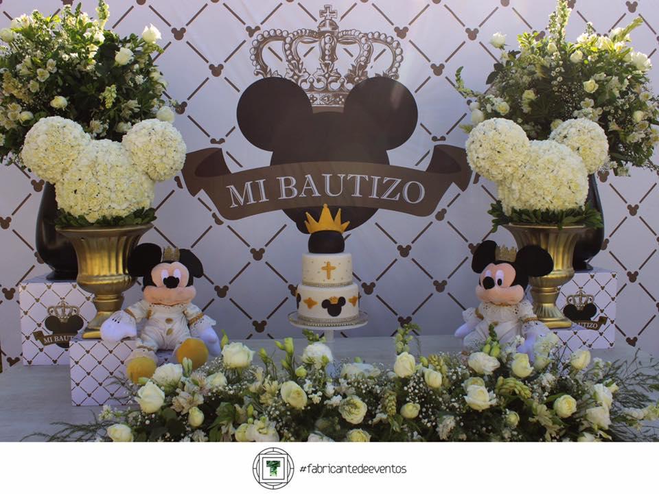 bautizo mickey mouse